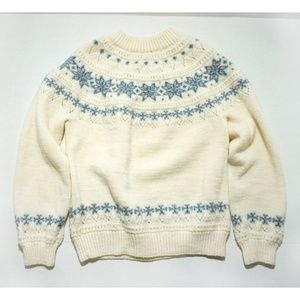 Vtg Dale Of Norway Womens Fair Isle Sweater